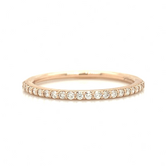 Rose Gold Petit Pave Diamond Band