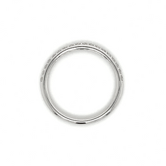 White Gold Medium Pave Diamond Band