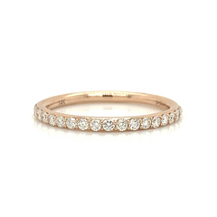 Rose Gold Medium Pave Diamond Band
