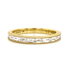 Milgrain Baguette Channel Set Diamond Band