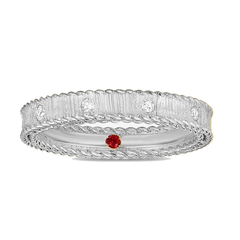 Brushed Finish Symphony Eternity Diamond Stacking Ring