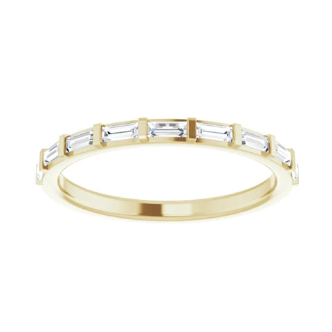 Petite Baguette Bar Set Diamond Band