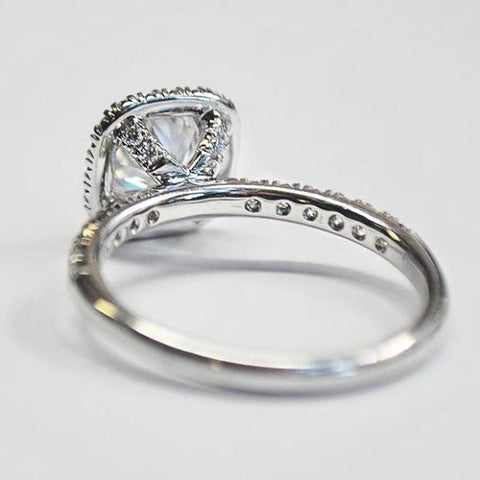 Passion Platinum Halo Engagement Ring with Diamonds