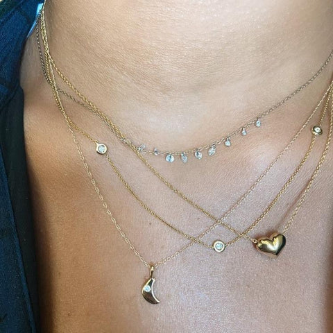 3 Station Diamonds by the Inch Necklace