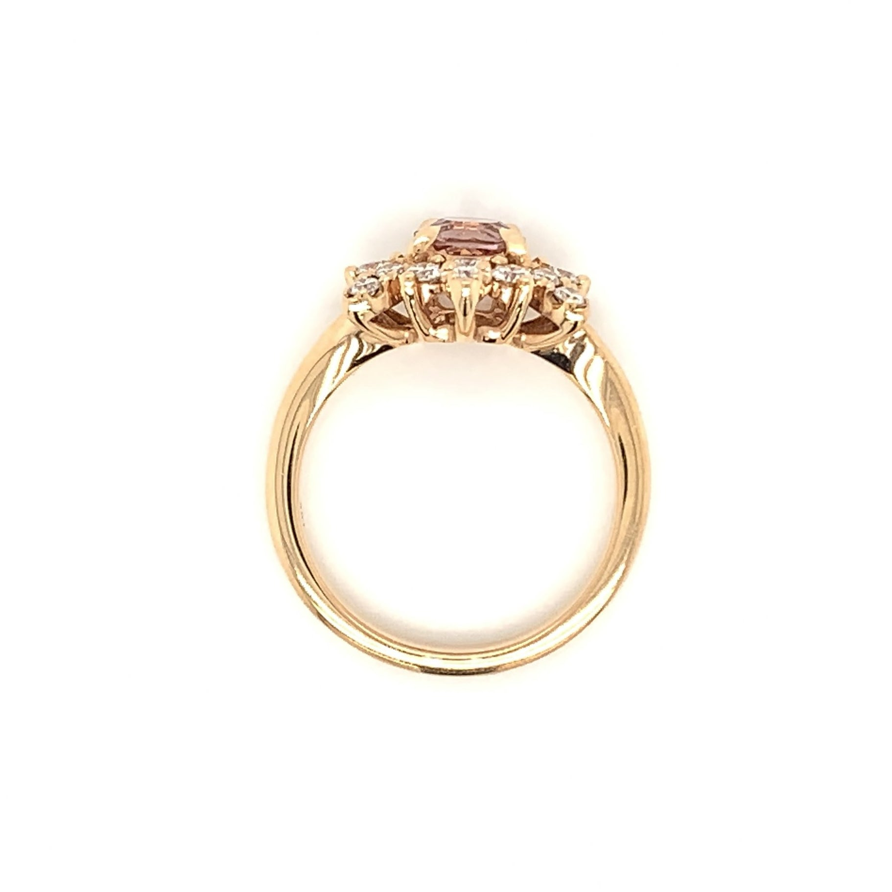 Rose & Morganite Half Halo