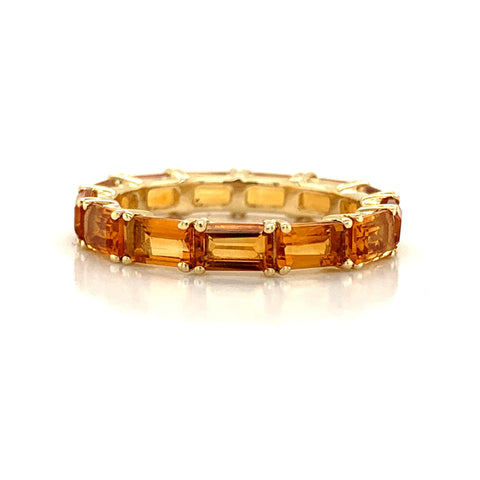 Eternity Emerald Cut Citrine Band | East to West Set