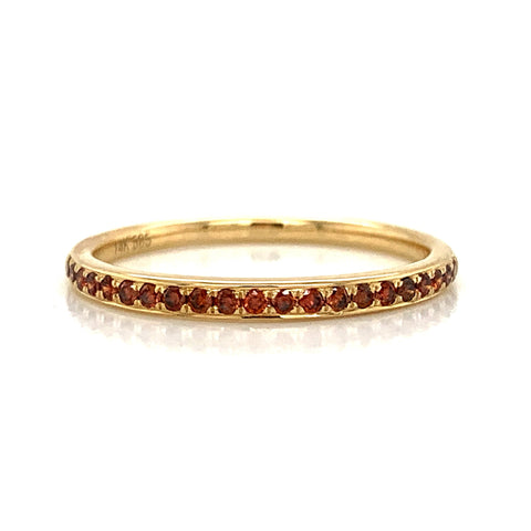 Delicate Cognac Diamond Pave Band