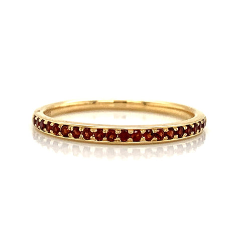 Delicate Garnet Pave Band