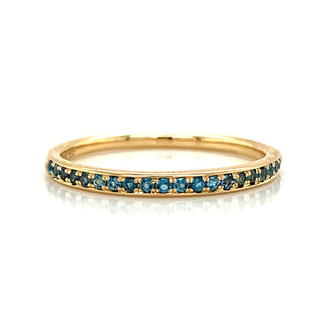 Delicate London Blue Topaz Pave Band