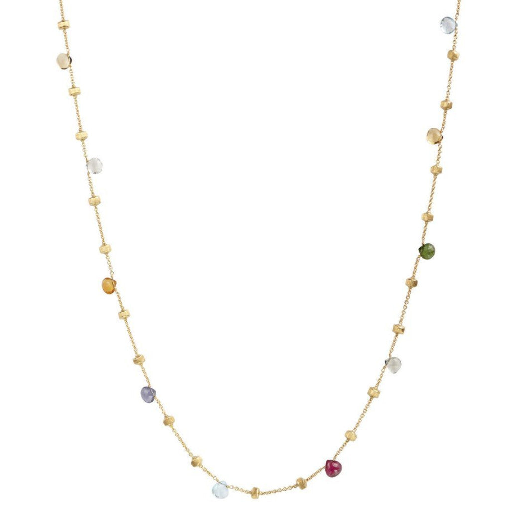 Paradise Yellow Gold & Mixed Stone Long Necklace