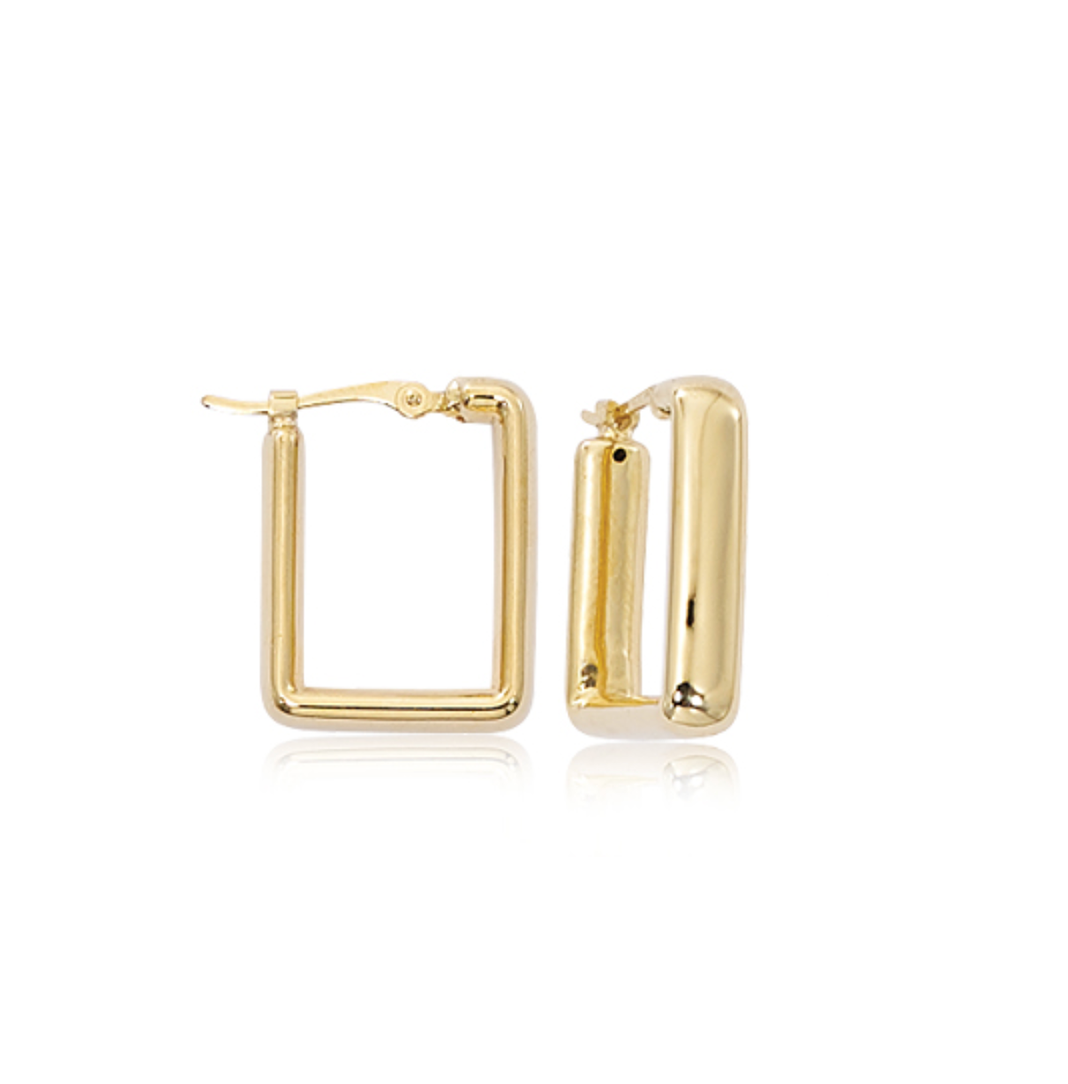 Small Square Bold Hoop Earrings