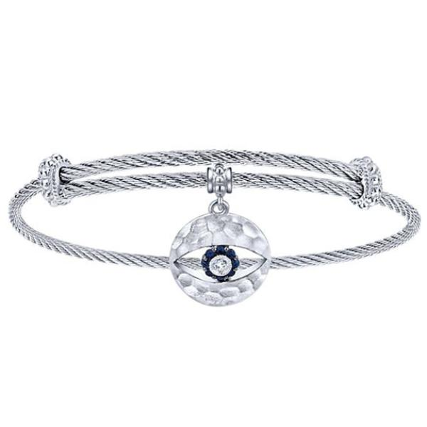 Silver/SS All Seeing Eye Bangle