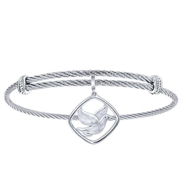 Silver/SS Square Dove Bangle