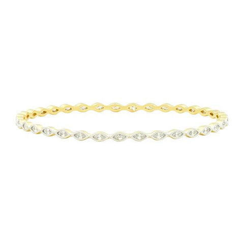 Marquise Cut Stone Slide-On Round Bangle