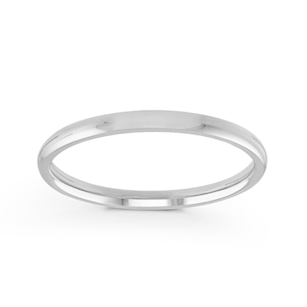 2mm Classic Dome Comfort Fit Wedding Band