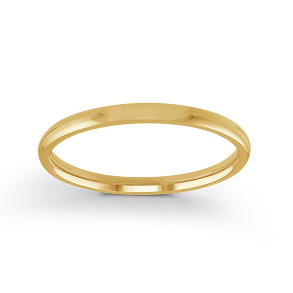 Classic Dome Half Round Polish Wedding Band