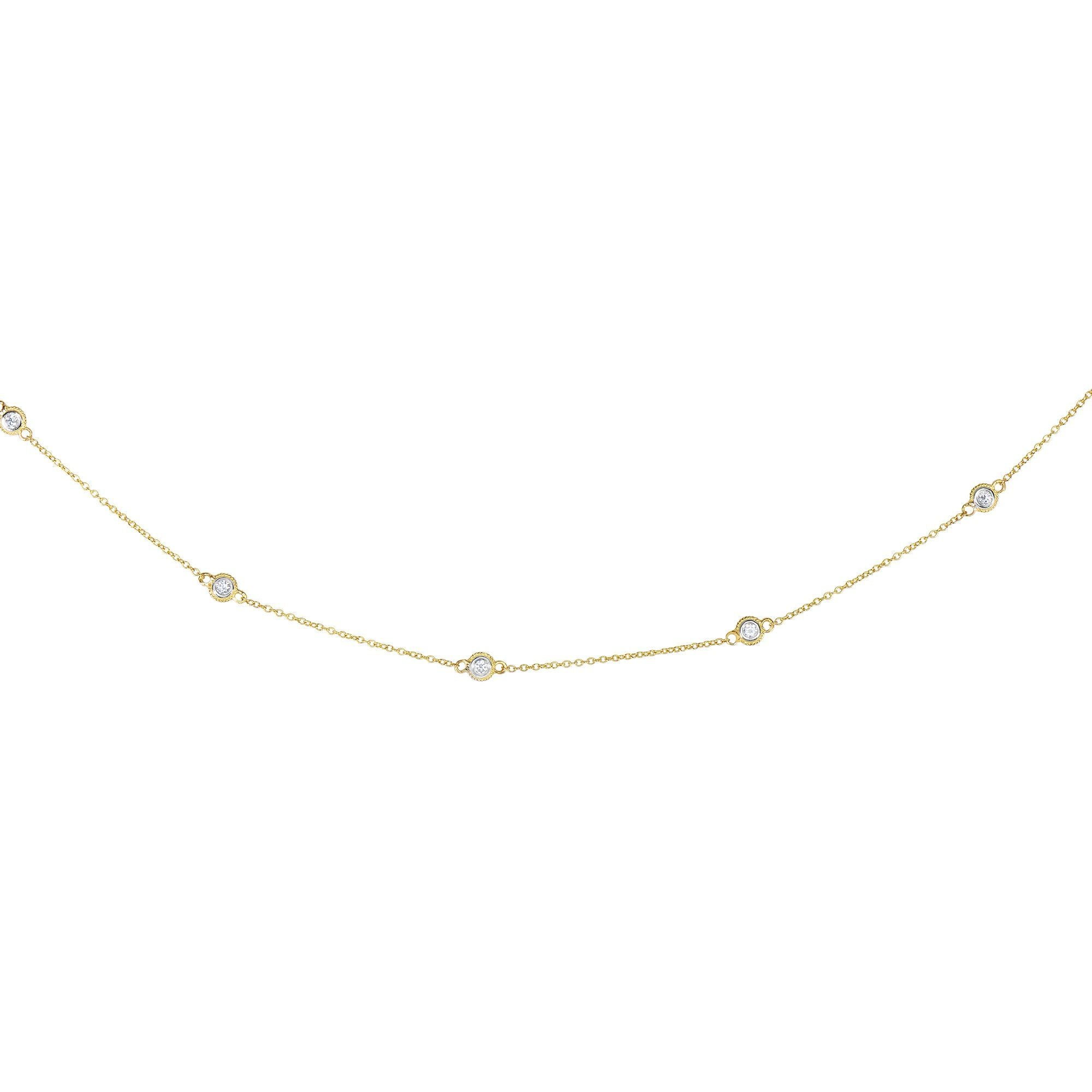 5 Station Diamonds by the Yard Necklace, .25ctw