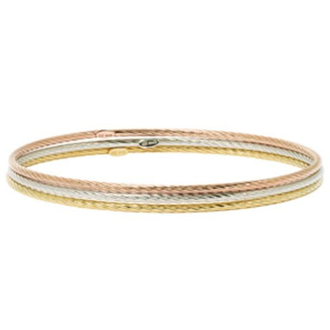 Rose, Yellow & White Separate Twist Bangles