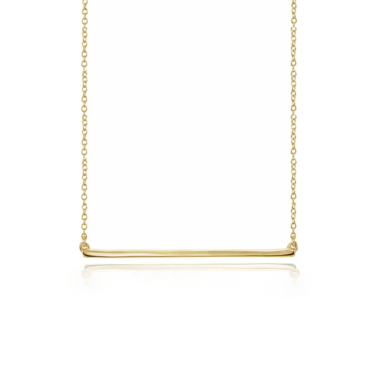 Straight Delicate Polish Bar Necklace