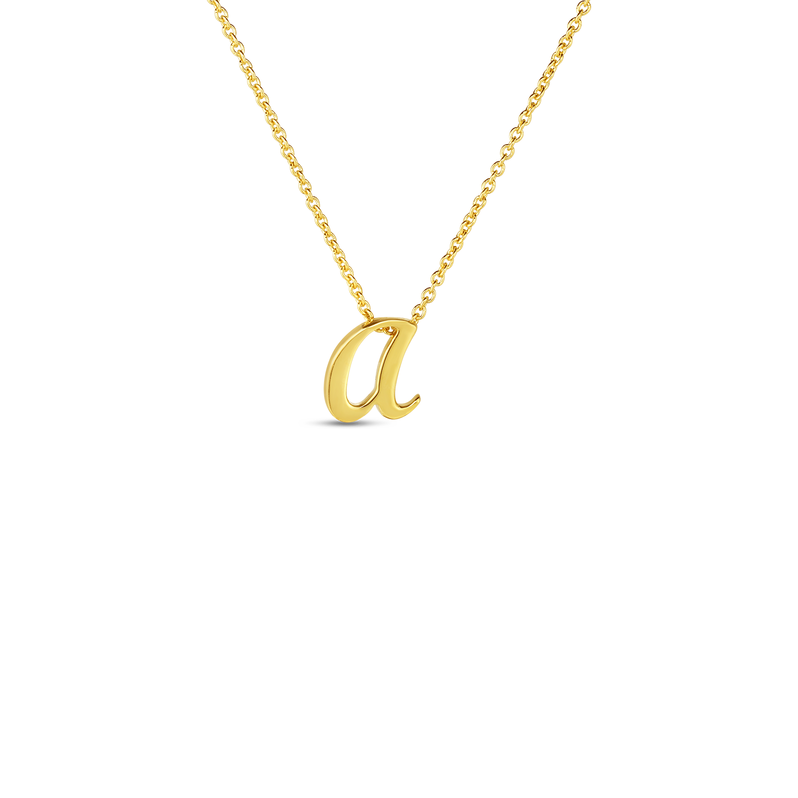 "Yellow Initial Tiny Treasure ""A"" Pendant"