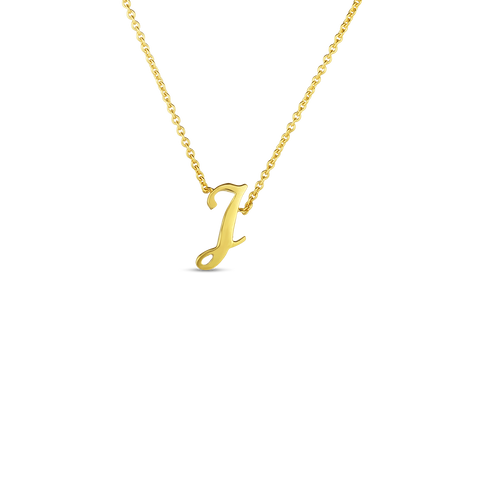 "Yellow Initial Tiny Treasure ""J"" Pendant"