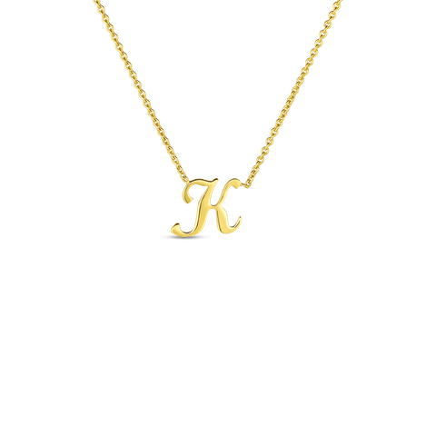 "Yellow Initial Tiny Treasure ""K"" Pendant"