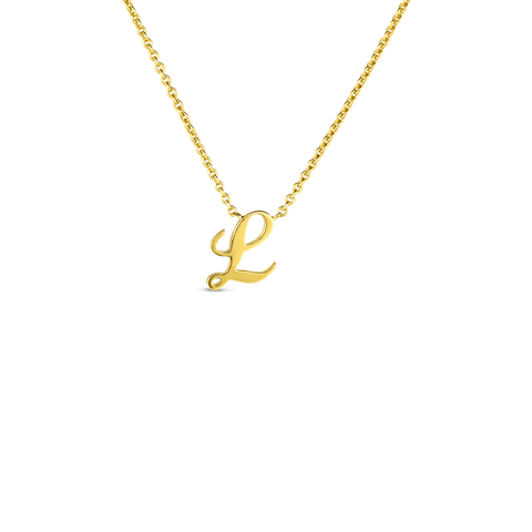 "Yellow Initial Tiny Treasure ""L"" Pendant"