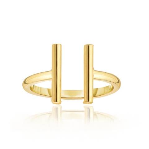 14K Open Gold Bar Ring