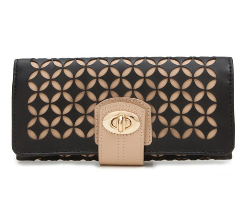 CHLOÉ JEWELRY ROLL - BLACK & TAN