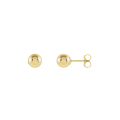 14K Gold Small Ball Stud Earring