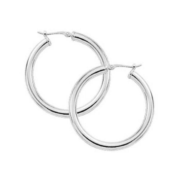 3x30mm Medium Wide Tube Hoop Earrings