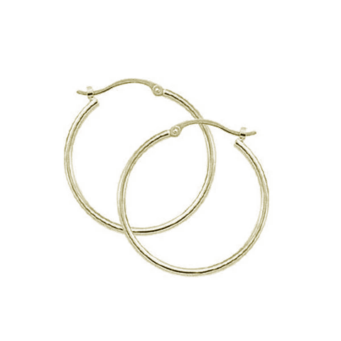 1.5X25mm Small Tube Hoop Earrings