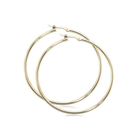 1.5x40mm Large Tube Hoop Earrings