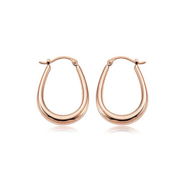 Rose Tube U Shape Hoop Earrings
