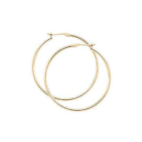 2.5x30mm Medium Tube Hoop Earrings