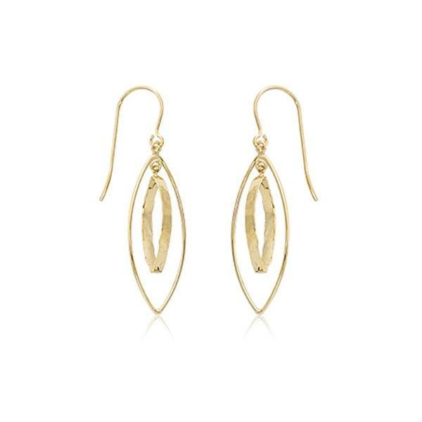 Yellow Mini Open Marquise Dangle Earrings