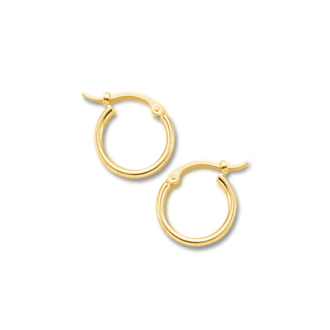 1.5x12mm Tiny Tube Hoop Earrings