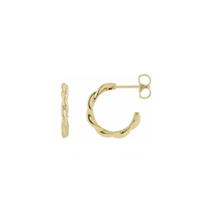 Petite Twist Plain Hoop Earrings