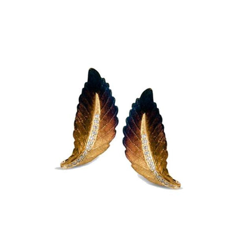 Organic Allure Yellow Leaf Earrings