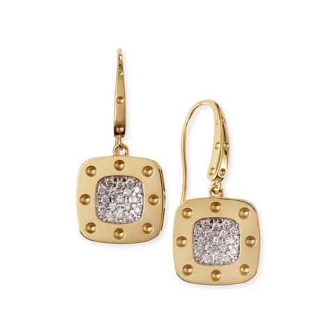 Pois Moi Yellow Dangle Earrings with Diamonds