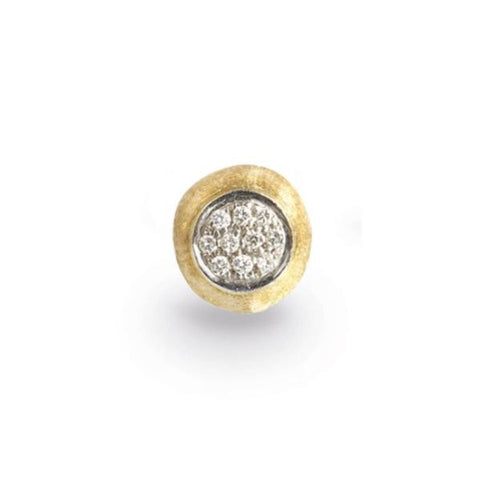 Delicati Yellow Gold & Diamond Pave Small Stud Earrings