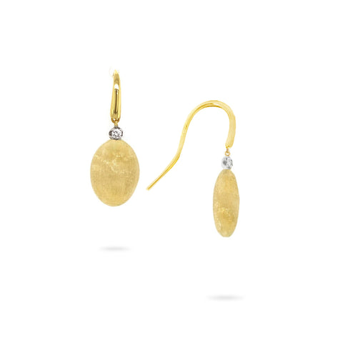 Siviglia Yellow Gold & Diamond Station Drop Earrings