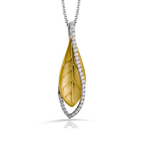 Garden Yellow and White Leaf Pendant