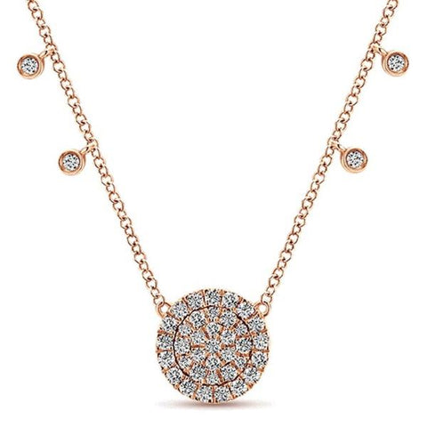 Rose Gold Diamond Cluster Pendant