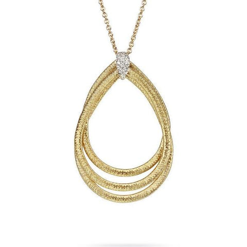 Cairo Yellow & White Large Diamond Loop Pendant