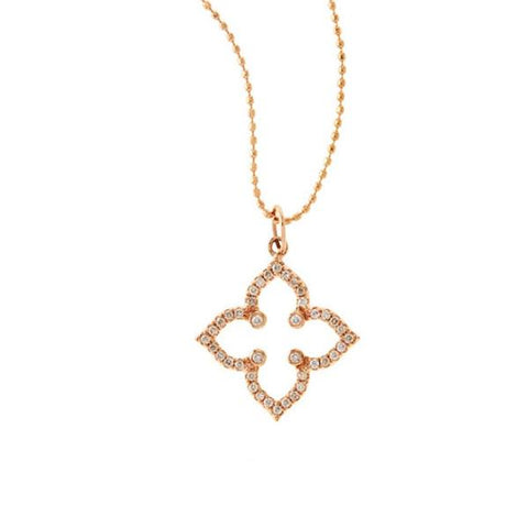 Rose Moroccan Diamond Pave Star Pendant