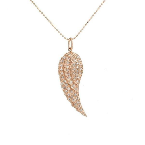 Rose Diamond Pave Mini Wing Pendant
