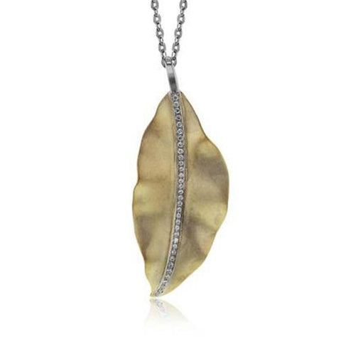 Garden Yellow and White Large Leaf Pendant