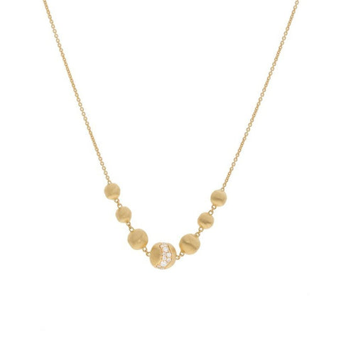 Africa Yellow Gold and Diamond Necklace