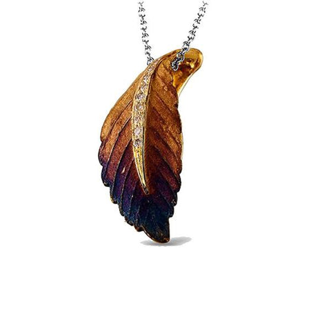 Organic Allure Yellow Leaf Pendant